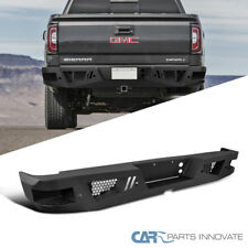 07-17 GMC Sierra 1500 Truck Pickup Black Steel Rear Bumper Face Bar Guard Step