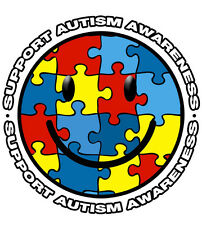 Lot 12 Autism Awareness Smiley Puzzle Piece Temporary Tattoos-NEW-FREE SHIPPING