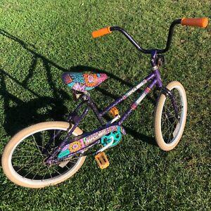 Vintage Murray Bicycle BMX Tropical Moves Bike Sparkle Frame Purple Black