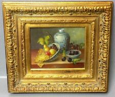 Magnificent Rare Original Mystery Oil on Canvas Still Life Painting - Signed