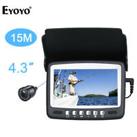 "Eyoyo 4.3"" LCD Monitor 15M Underwater Fish Finder 1000TVL Fishing Video Camera"