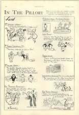 1928 D'egville Cartoon Comment Sir Thomas Beecham, Tallulah Bankhead, Lady Boyne