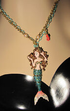Betsey Johnson Nautical Betsey And The Sea Mermaid Seahorse  Necklace