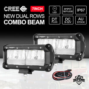 DEFEND INDUST 7inch LED Light Bar CREE Offroad 4x4 Work Light Combo Beam