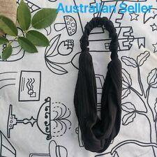Soft Cross Knot Elastic HeadBand/ Black-AU SELLER