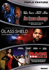 GLASS SHIELD - ICE CUBE / RAGE IN HARLEM / IN TOO DEEP - LL COOL J rare dvd '90s