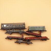 Fleischmann- Roco- Arnold Spur N Konvolut Set 6 x Güterwagen + 1 x Personenwagen