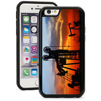 For iPhone X XS Max XR 7 8 Plus Shockproof Hard Case 1560 Oilfield at Sunset