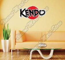 """Kendo Japanese Martial Art Swords Shina Wall Sticker Room Interior Decor 25""""X18"""""""
