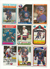Bryan Trottier lot of 9 Hockey Cards with 1977-78 OPC  2nd year #105