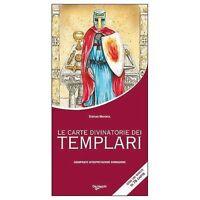 Le Carte Divinatorie dei Templari in Cofan. Nuovo + Libro esplicativo Tarocchi