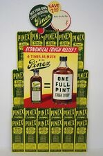 New Old Stock PINEX Cough Medicine cardboard easel store display, advertising