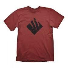 Gears OF WAR 4 MEN'S Sciame icona Grande Rosso Scuro T-shirt
