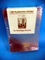 100 Postkartenhüllen aus Hart-PVC klar