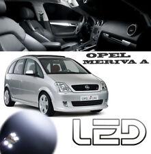 OPEL MERIVA A Pack 7 Ampoules LED Blanc éclairage plafonnier coffre Boite gants