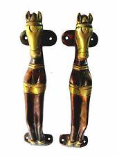 Horse Shape Antique Style Handmade Brass Door Handle Drawer Cabinet Pull Knob