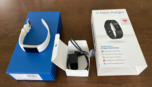 Fitbit Charge 2 Fitness Tracker White Small wristband with charger