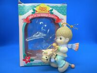 Enesco Precious Moments Boy on Toy Horse Home for the Holidays Ornament 182370