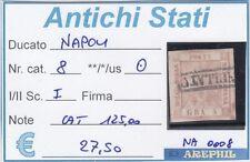 ANTICHI STATI - NAPOLI - NA0008 - NR. 8 USATO - CATALOGO 125€