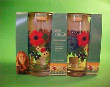 the PIONEER WOMAN set of FOUR 16 oz. GLASSES ~ DAZZLING DAHLIAS