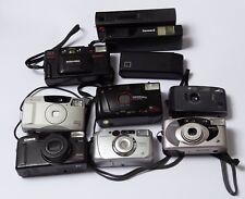 Job Lot 20 Assorted Film Cameras Point & Shoot Ricoh Canon Fujifilm Kodak