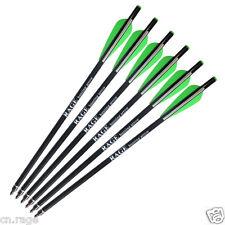 6Pcs 13.4'' Crossbow Bolts Premium Fiberglass Arrows Hunting Archery Dead Strike