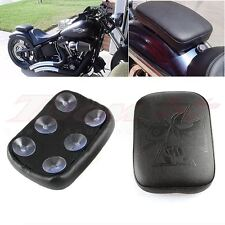 Cross Rectangular Pillion Passenger Pad Seat 6 Suction Cup For Harley Motorcycle