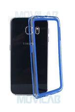 Bumper gel / TPU Samsung G925F Galaxy S6 Edge azul y transparente - Carcasa-
