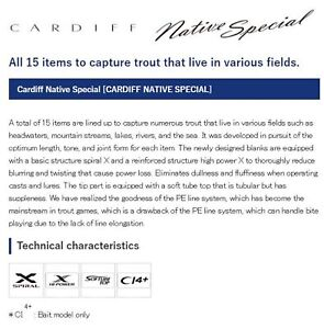 Shimano Rod Spinning Cardiff Native Special S47UL-3 Travel Rod 395443