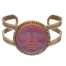KIRKS FOLLY Seaview Moon Cuff Bracelet   volcano / goldtone