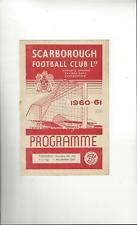 Scarborough v Bradford City FA Cup Football Programme 1960/61