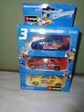 Burago - 3-Pack of Disney Collection Matchbox Cars - Donald - Sully - Woody