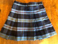 Rifle Girls Size 6 School Uniform Pleated Skort Blue Red Plaid Adjustable Waist
