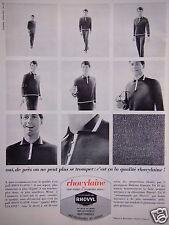 PUBLICITÉ 1965 PULL RHOVYLAINE  LAINE PEIGNÉE MERINOS - ADVERTISING