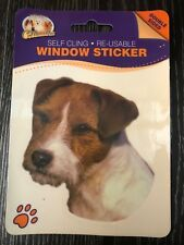 JACK RUSSELL ( ROUGH COAT ) DOUBLE SIDED WINDOW STICKER