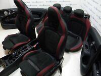 Mini Cooper F54 Seggiolini IN Pelle Jcw Sedili Sportivi Dinamica - Nero Carbonio