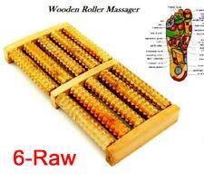 6 Raw Wooden Foot Care Roller Massage Reflexology Relax Relief Foot Massager
