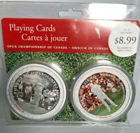 Open Championship Of Canada 1904 - 2004 Round Playing Cards 2 Decks New Sealed