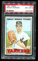 1967 Topps Baseball #77 DOOLEY WOMACK New York Yankees PSA 8 NM-MT
