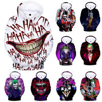 Haha joker 3D Sweatshirt Hoodies Men and women Hip Hop Funny Autumn Streetwear