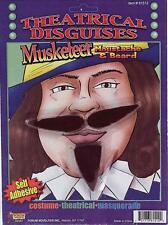 Musketeer Moustache Beard Medieval Fancy Dress Halloween Costume Accessory
