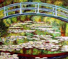 """Claude Monet  Repro  Oil Painting - Japanese Footbridge - size 30""""x26"""""""