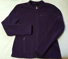 TOMMY HILFIGER WOMENS LARGE PURPLE FLEECE ZIP FRONT JACKET SPRING FALL