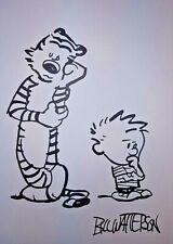 Calvin and Hobbes - Bill Watterson, Comics Artwork, Hand Drawn Signed Drawing