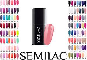 Semilac Soak Off LED/UV Hybrid Manicure Nail Gel Polish Colour Coat