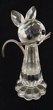 "Vintage Swarovski Crystal 2 7/8"" Large Cat Figurine w/Flexible Metal Tail #7634"