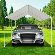 White Heavy Duty Garage Canopy Tent 10x20 FT Steel Carport Portable Car Shelter