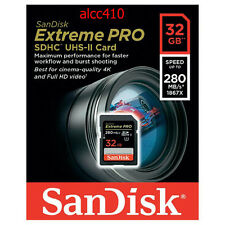 Sandisk Extreme Pro 32GB SD SDHC Memory Card 280MB/s UHS-I Ultra U3 4K HD Video