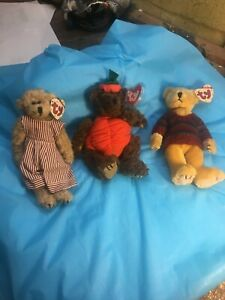 """1993 Ty Beanies Set of Three (3) - """"FREDERICK""""  """"PETER""""  """"TINY TIM"""" - ALL Tags"""