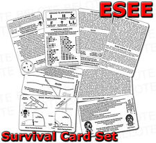 ESEE Izula Gear Survival Card Set 4 Cards SURV-CARD